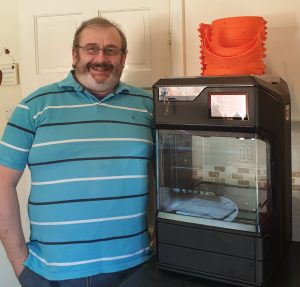 Phil Lawton 3D printer and headbands for the NHS