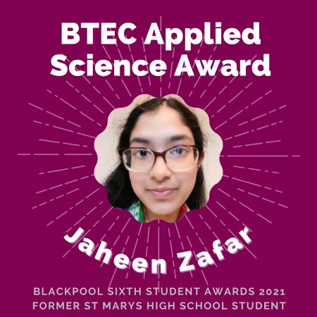 AWARDS 2021 -BTEC Applied Science