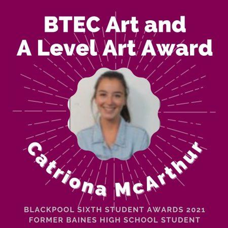 AWARDS 2021 -BTEC Art and A Level Art