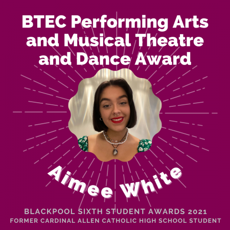 AWARDS 2021 - BTEC Performing Arts and Musical Theatre and Dance