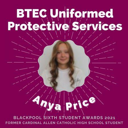 AWARDS 2021 -BTEC Uniformed Protective Services